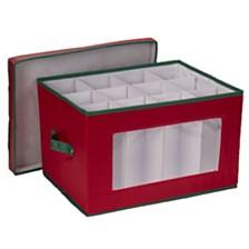 Household Essentials Holiday Stemware Goblet Storage Box