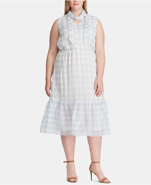 Lauren Ralph Lauren Plus Size Georgette Dress