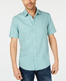 Michael Kors Men's Gingham Shirt, Created for Macy's