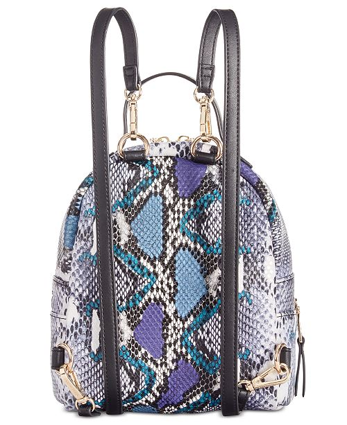 Karter Mini Python-Print Backpack