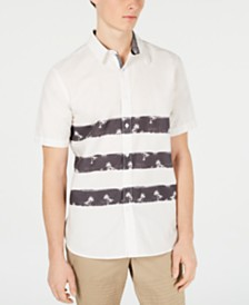American Rag Men's Triple Stripe Tropical Shirt, Created for Macy's