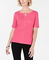 e7b4610318fda Karen Scott Womens Tops - Macy s