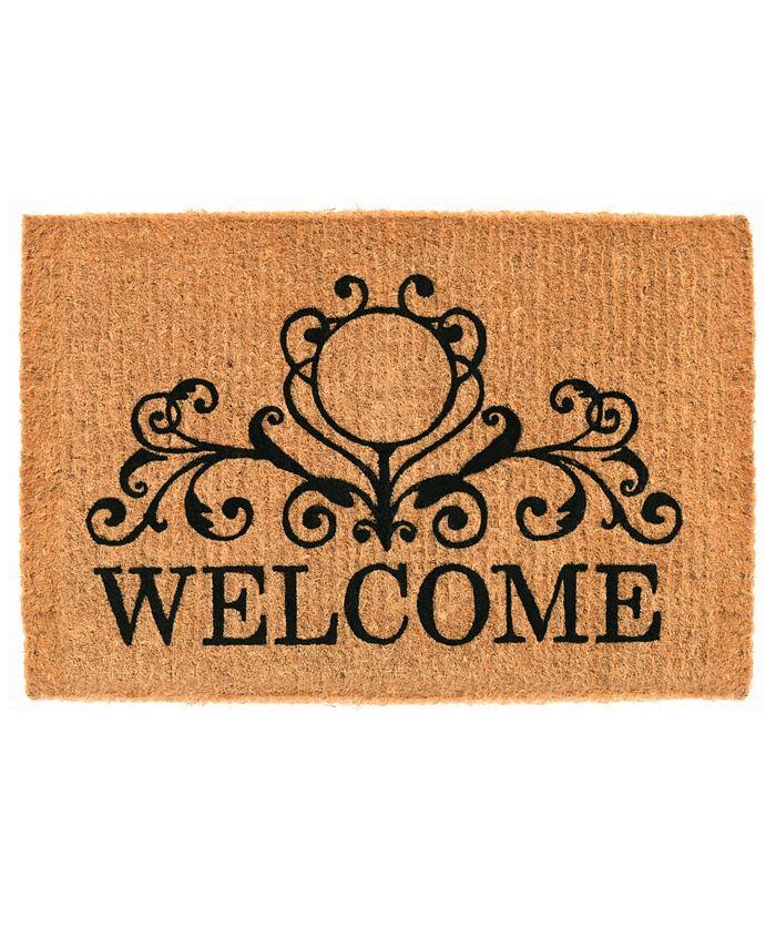 Home & More - Kingston Welcome 2' x 3' Coir Doormat
