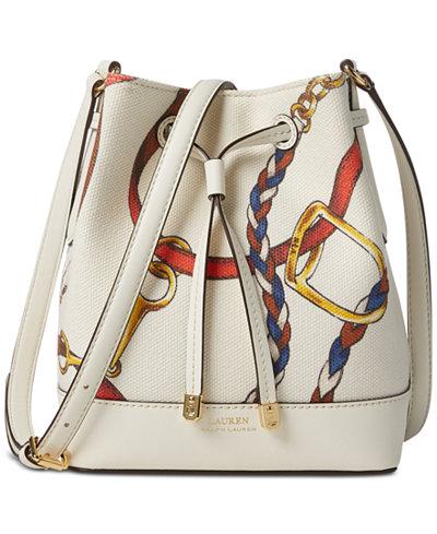 Lauren Ralph Lauren Dryden Mini Debby II Canvas Drawstring Bag