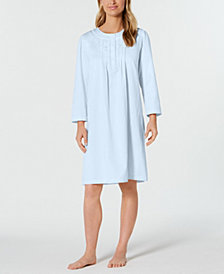 Miss Elaine Petite Brushed-Back Satin Nightgown