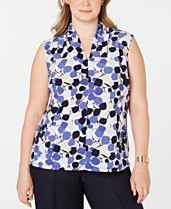 dc371f9fd193bd Nine West Plus Size Printed Sleeveless Top