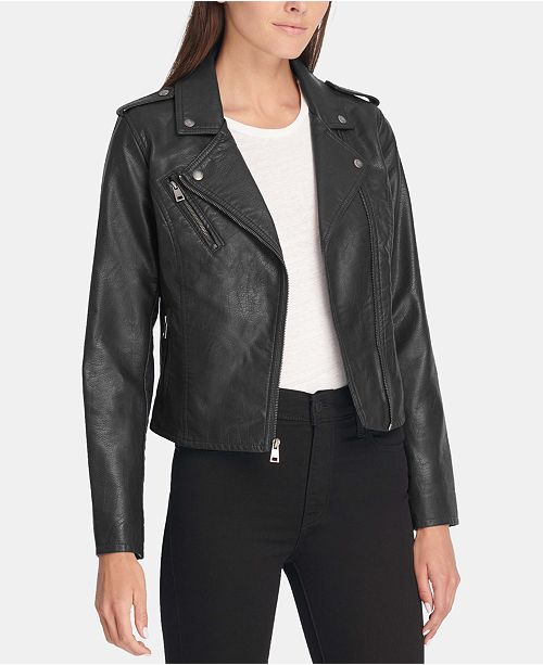 3905df2c077 Levi s Faux-Leather Moto Jacket   Reviews - Jackets   Blazers ...