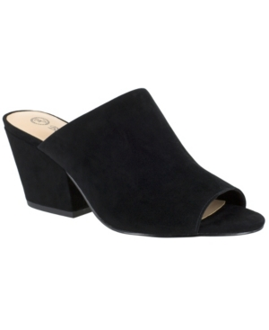 Bella Vita Kathy Mules Women's Shoes In Black Suede Leather