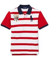 ef7c5269df9 Polo Ralph Lauren Big Boys Striped Cotton Mesh Polo Shirt