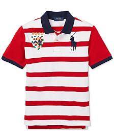 62ce75f1cbe5f6 Polo Ralph Lauren Big Boys Striped Cotton Mesh Polo Shirt