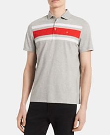 Calvin Klein Men's Liquid Touch Chest Stripe Polo Shirt