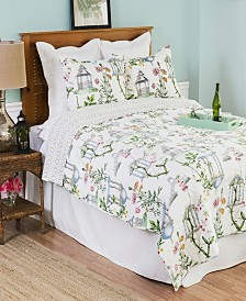 Garden Folly Full Queen 3 Piece Quilt Set