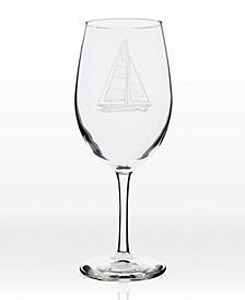 Sailboat All Purpose Wine Glass 18Oz - Set Of 4 Glasses