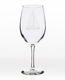 Rolf Glass Sailboat All Purpose Wine Glass 18Oz - Set Of 4 Glasses