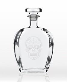 Rolf Glass Sugar Skull Decanter 23Oz