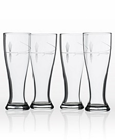 Fly Fishing Beer Pilsner 16Oz- Set Of 4 Glasses