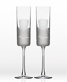 Wedding Cheers Series 2 (Dress/Dress) Flute 5.75Oz - Gift Box Set Of 2