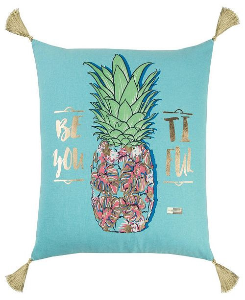 """Rizzy Home Simply Southern 18"""" x 18"""" Pineapple Pillow"""