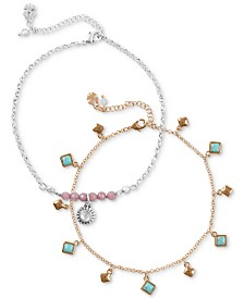 Lucky Brand Two-Tone 2-Pc. Set Anklet, Created for Macy's