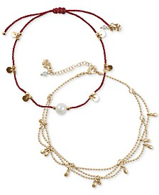 Lucky Brand 2-Pc. Set Gypsy Anklet, Created for Macy's