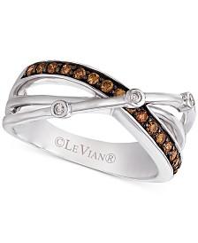 Le Vian Chocolatier® Diamond (1/4 ct. t.w.) Ring in 14k White Gold