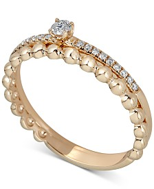 Diamond Engagement Ring (1/6 ct. t.w.) in 14k Gold