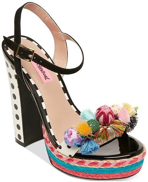 Betsey Johnson Polka Dress Sandals