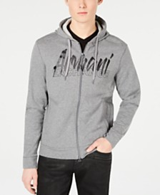 Armani Exchange Men's Logo Graphic Lightweight Hoodie