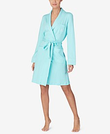 Quilted Shawl Collar Short Robe