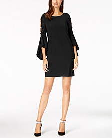 Embellished Bell-Sleeve Dress
