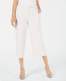 Petite Belted Culotte Pants, Created for Macy's