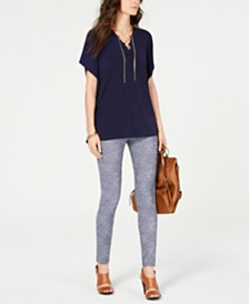 MICHAEL Michael Kors Lace-Up Top & Printed Leggings
