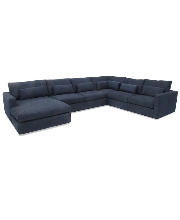 Hotel Collection Canillo 4-Pc. Fabric Chaise Sectional Sofa, Created for Macy's