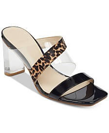 GUESS Women's Kicie Lucite Dress Sandals