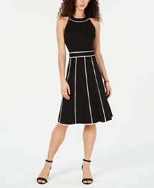 Tommy Hilfiger Piped Trim Dress, Created for Macy's