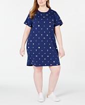 8063de3f5b Tommy Hilfiger Sport Plus Size Logo Printed Dress
