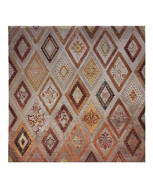 Jla Home Madison Park Be Dazzled Metallic Canvas With Beads Embellishment Reviews Wall Art Macy S