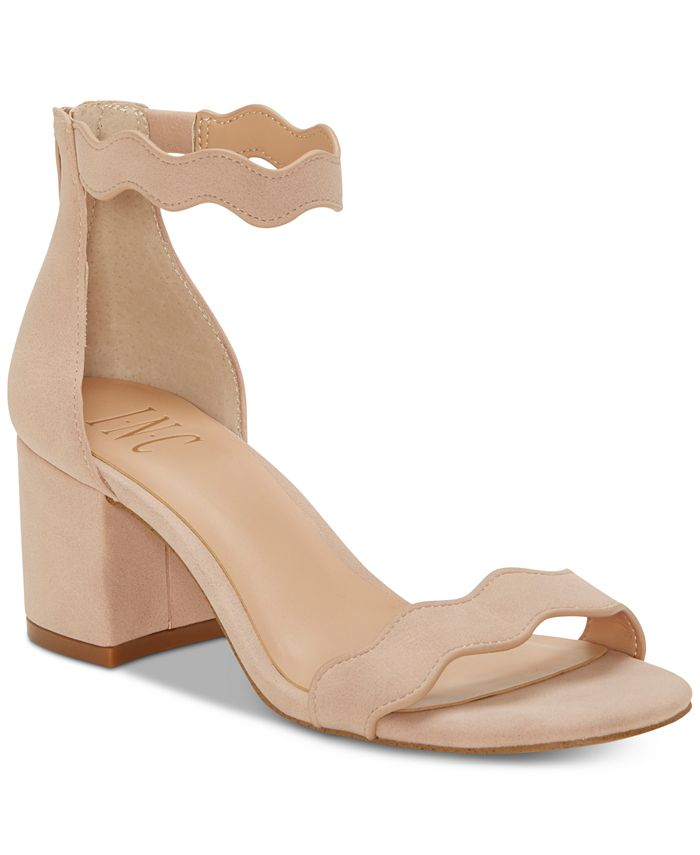 INC International Concepts - Hadwin Scallop Block-Heel Sandals