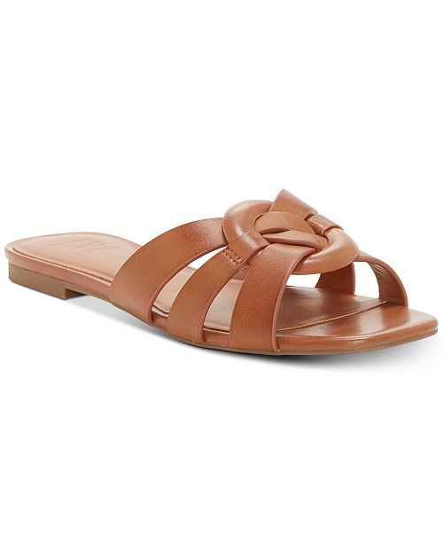INC International Concepts I.N.C. Gargi Knot-Front Woven Slide Sandals, Created For Macy's