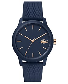 Lacoste Women's 12.12 Blue Rubber Strap Watch 36mm