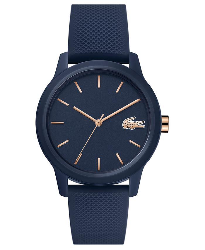 Lacoste - Women's 12.12 Blue Rubber Strap Watch 36mm