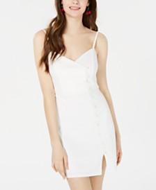 Trixxi Juniors' Button-Detail Bodycon Dress