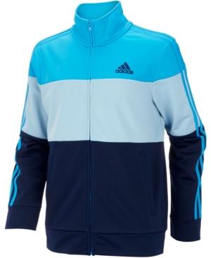 adidas Big Boys Colorblocked Tricot Track Jacket