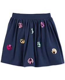 Carter's Big & Little Girls Sequin Dot Cotton Scooter Skirt