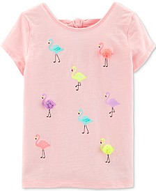 Carter's Little Girls Flamingo-Print Cotton Top