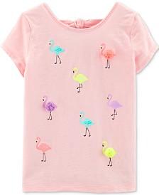 Carter's Little Girls Flamingo-Print Cotton Top