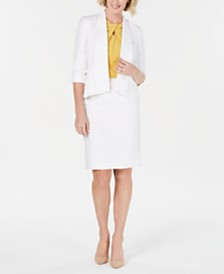 Kasper Shawl-Collar Jacket & Suit Skirt