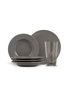 Thermoserv 12-Piece Melamine Dinnerware Set, Bistro
