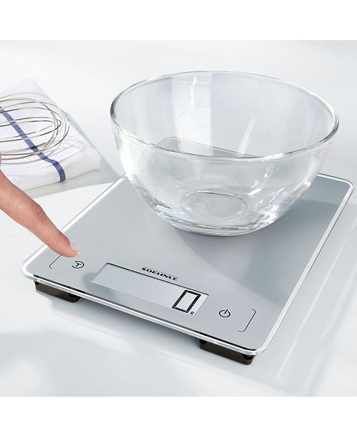 Soehnle Page Aqua Proof Kitchen Scale, 22 lb. Capacity Silver