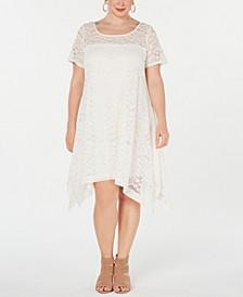 Plus Size Lace Trapeze Dress